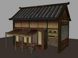 Traditional Ancient Chinese Store 3d preview