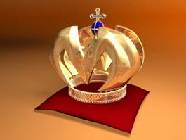 Medieval King Crown 3d preview