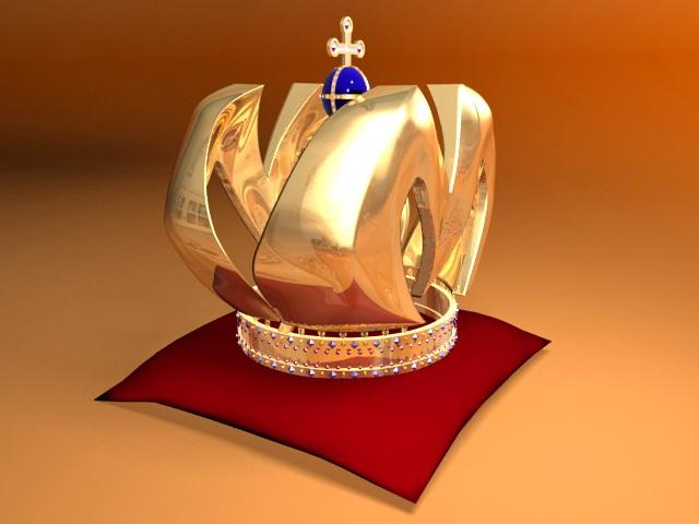 Medieval King Crown 3d rendering