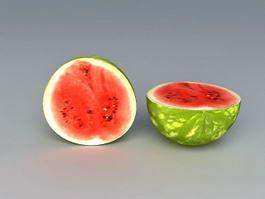 Cut Watermelon Half 3d preview