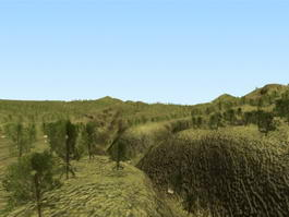 Hill Terrain 3d preview