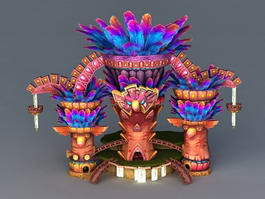 Totem Temple 3d preview