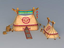 Ancient Military Tents 3d preview