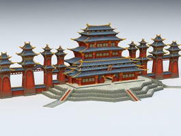 Anime Chinese Palace 3d preview
