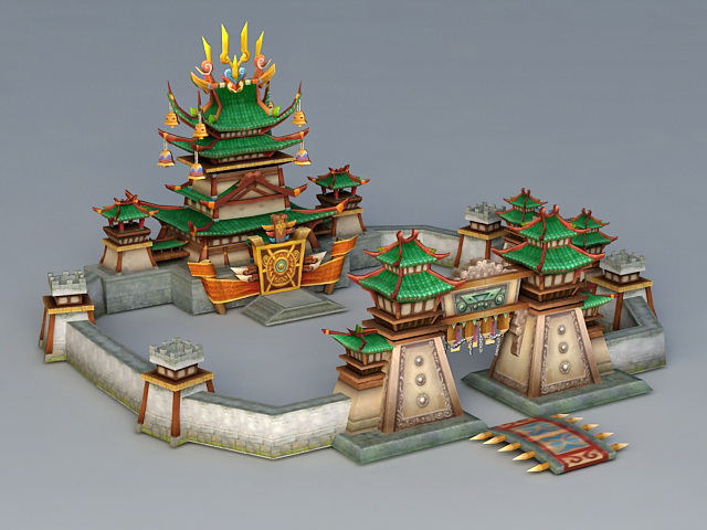 Fighting Game Arena 3d rendering