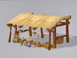 Ancient Tent 3d model preview