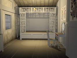 Chinese Bedroom at Night 3d preview