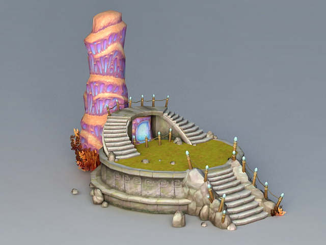 Magical Tower Portal 3d rendering