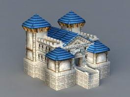 Warcraft Human Buildings 3d preview