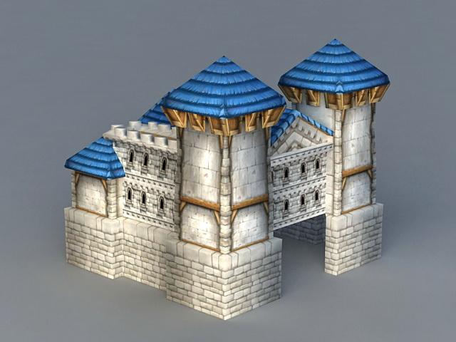 Warcraft Human Buildings 3d rendering