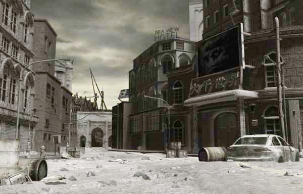 City in Ruins 3d rendering