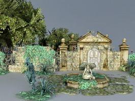 Garden Ruins 3d preview
