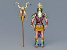 Ancient Indian Chief 3d preview