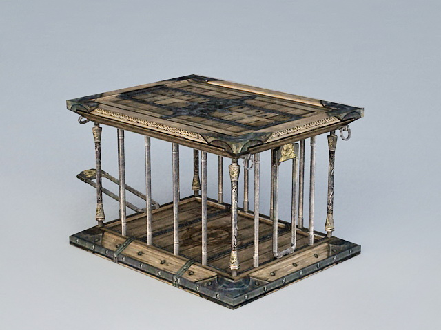 Ancient Animal Cage 3d rendering