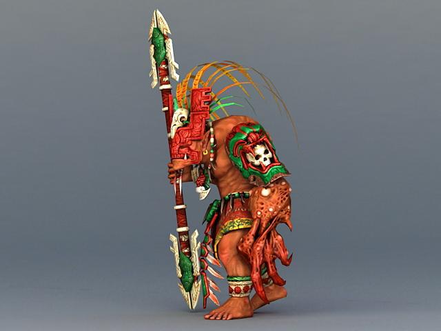 Barbarian Warrior Concept 3d rendering