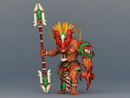 Barbarian Warrior Concept 3d preview