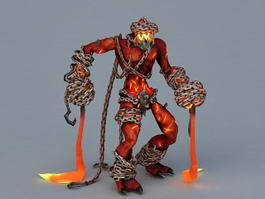 Lava Elemental Demon 3d preview