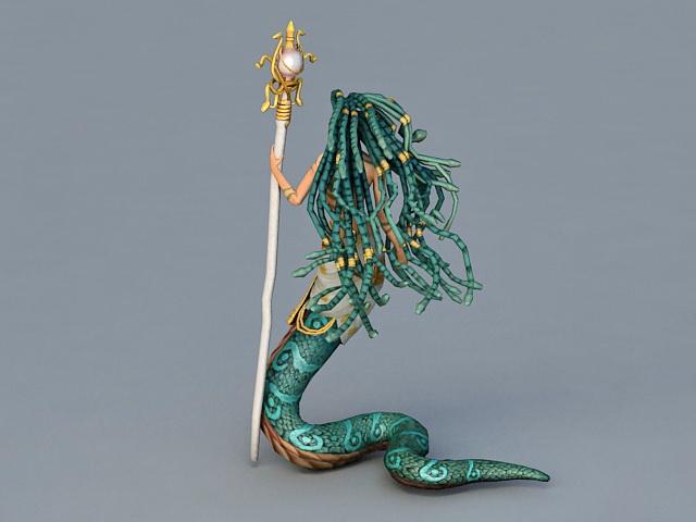 Naga Priestess 3d rendering