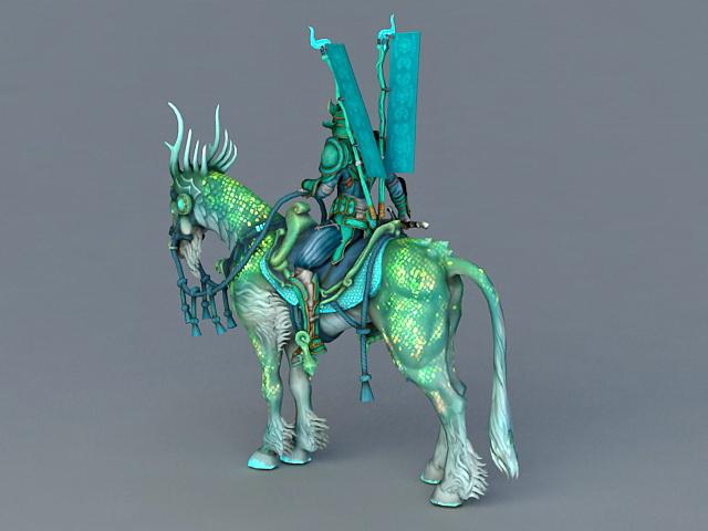 Green Knight 3d rendering
