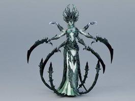 Female Monster 3d model preview