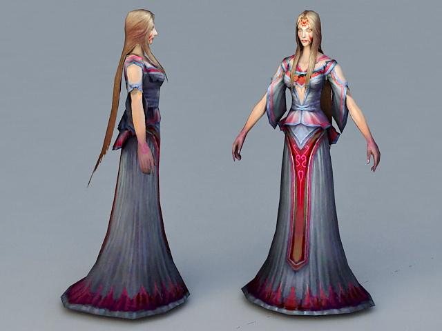 Beautiful Ghost Woman 3d rendering