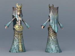 Medieval Islamic Princess 3d model preview