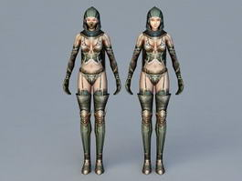 Female Ninja Assassin 3d preview