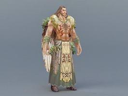 Male Druid 3d preview