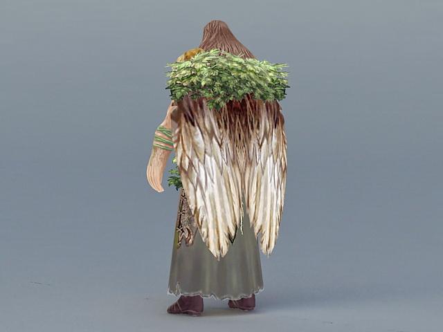 Male Druid 3d rendering