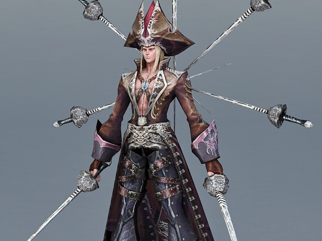 Pirate Lord 3d rendering