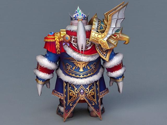 Dwarf King 3d rendering