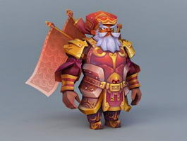 Dwarf Warrior 3d preview
