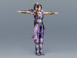 Ancient China Martial Artist 3d preview