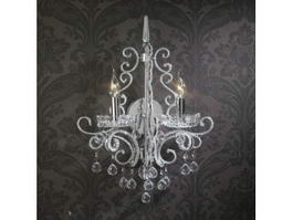 Crystal Candle Wall Sconces 3d preview