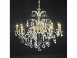 Candlelight Crystal Chandelier 3d model preview