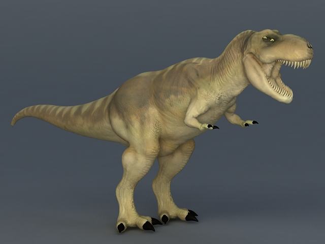 Tyrannosaurus Rex Dinosaur 3d rendering