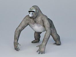 Black Gorilla 3d preview