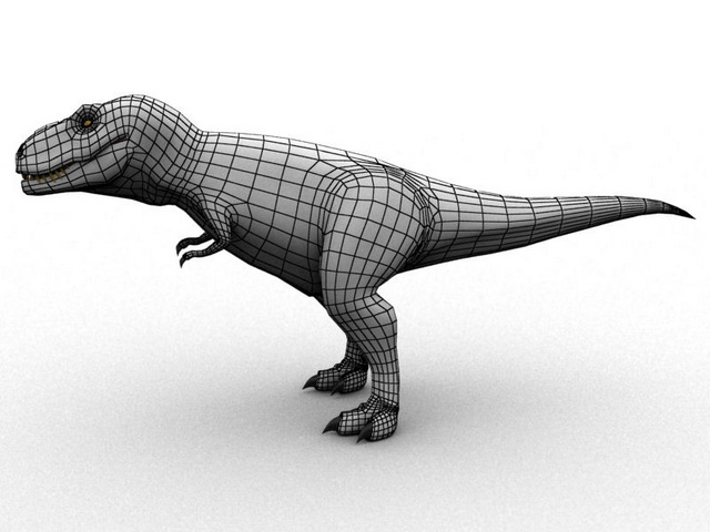 Meat-Eating Dinosaur 3d rendering