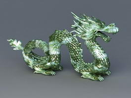 Chinese Jade Dragon 3d preview
