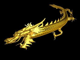 Animated Chinese Dragon 3d model preview