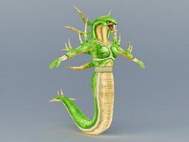 Female Naga Snake 3d preview