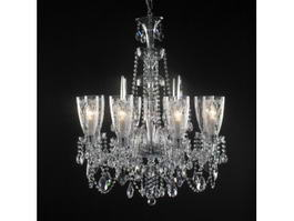 Modern Crystal Chandeliers 3d preview