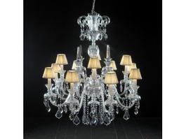 12 Lights Chandeliers with Shades 3d preview