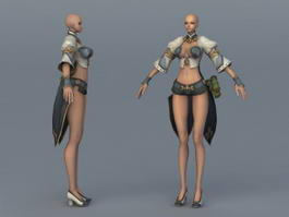 Female Character Concept Art 3d model preview