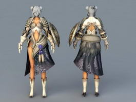Female Demon Armor 3d preview