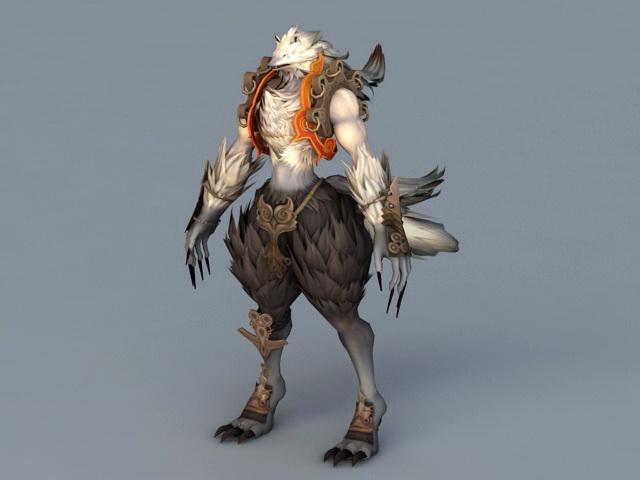 Werewolf Warrior 3d rendering