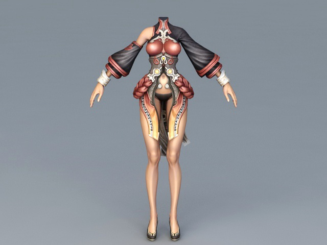 Perfect Female Body 3d rendering