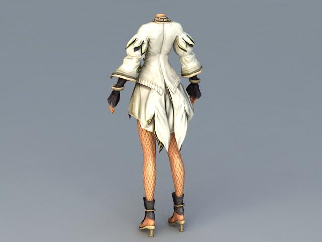 Female Lower Body 3d rendering