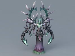 Powerful Humanoid Demon 3d model preview