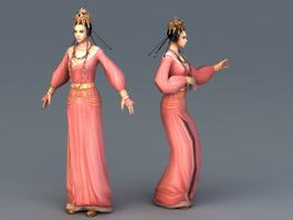 Tang Dynasty Female Dancer Animation 3d preview